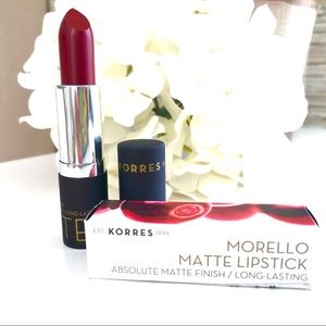 Korres Morello Matte Lipstick in Red Burgundy